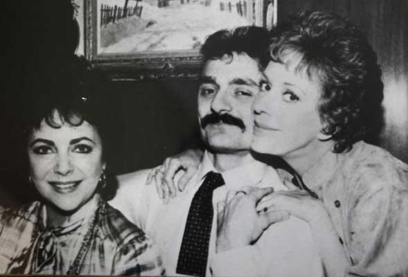 Will Toffan with Elizabeth Taylor and Carol Burnett